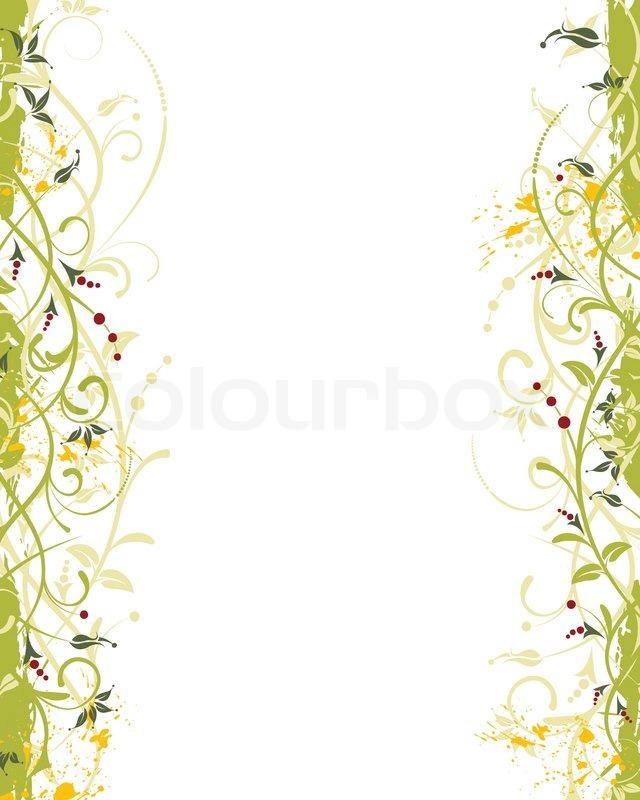 Grunge malen Blume Rahmen , Element für Design , Vektor ...