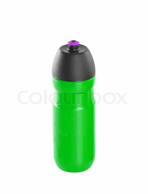 Stock image of 'Green bike bottle isolated on white'