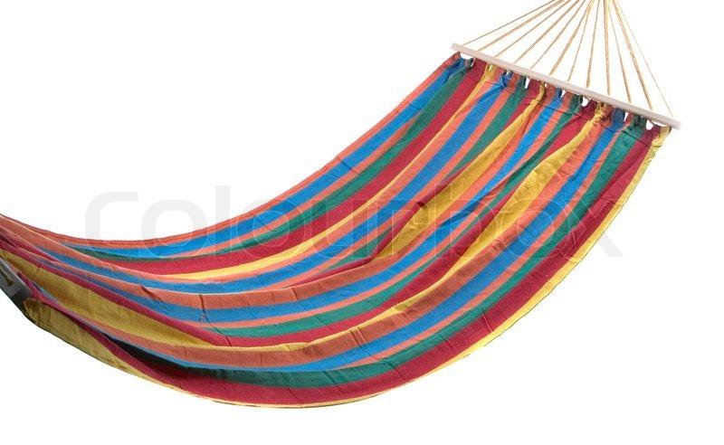 colorful hammock isolatad on a white background stock photo