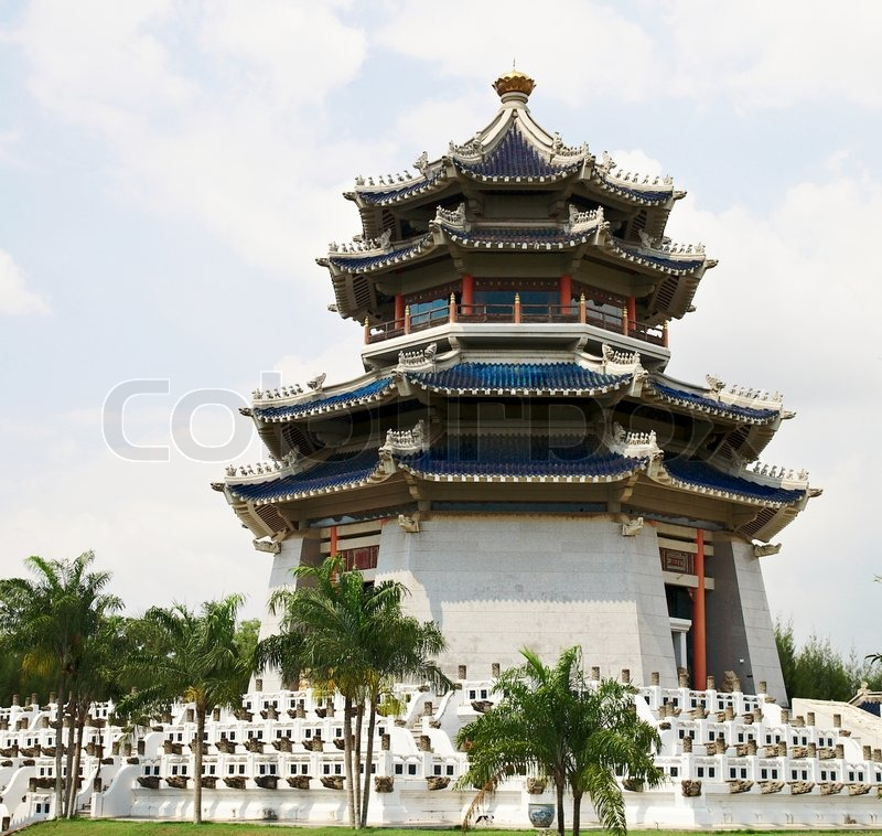 Pagoda Traditional Chinese Temple Famous Oriental Spiritual Building