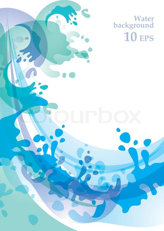 water background design element 10 eps stock vector