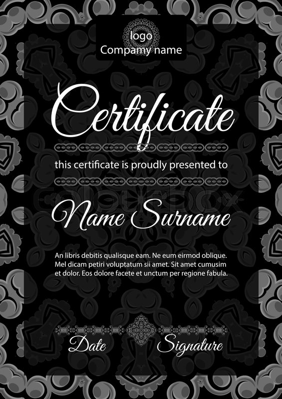 Certificate template ornamental pattern with islamic arabic stock vector of certificate template ornamental pattern with islamic arabic indian or yadclub Choice Image