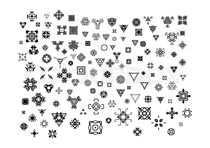 Ornamental Hand Drawn Symbols For The Page Decoration Vector