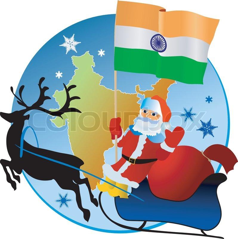 Merry Christmas, India! | Stock Vector | Colourbox