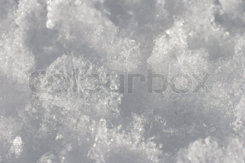 Winter snow surface cristal texture (super macro), stock photo