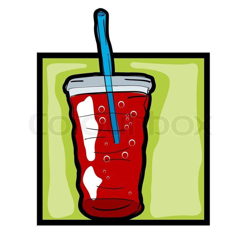 classic clip art graphic icon with fresh soda stock vector colourbox rh colourbox com soda clipart transparent clipart soda can