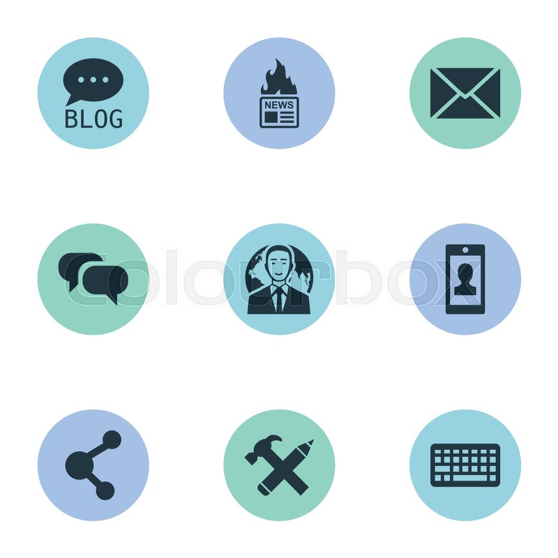 Vector Illustration Set Of Simple User       Stock vector   Colourbox