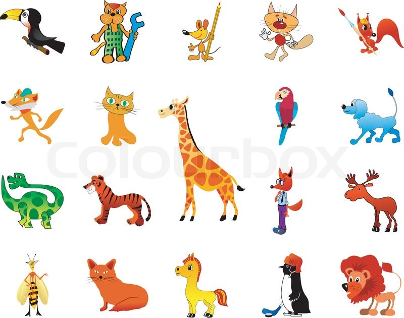 Stock vector of 'Set of funny animals'