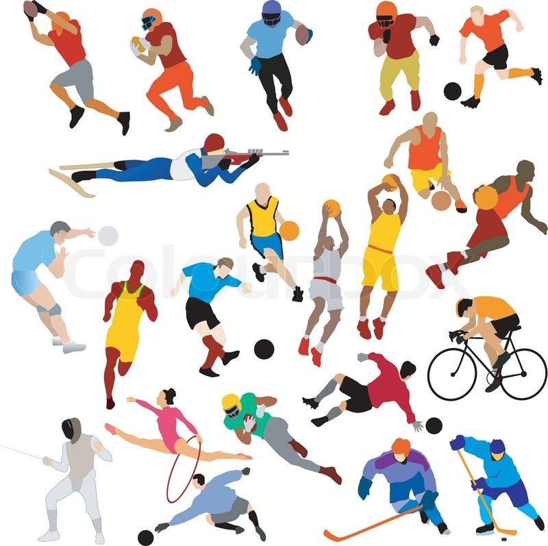 Stock vector of sport clip art
