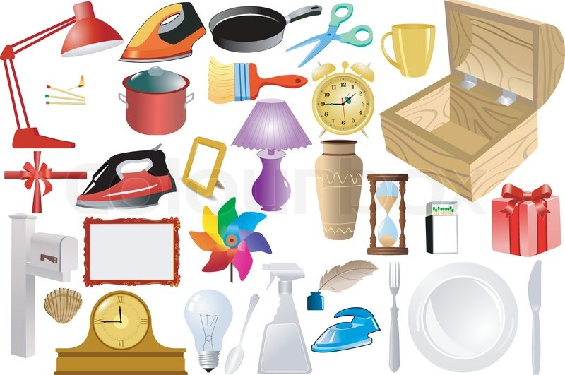 Set Of Of Home Objects Stock Vector Colourbox