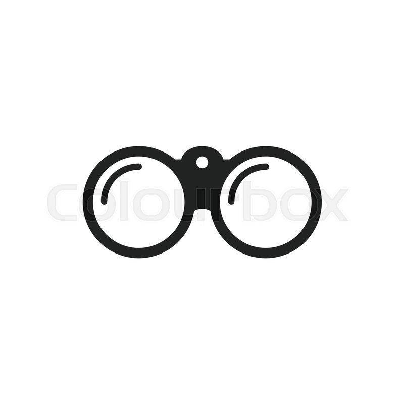 binocular vector icon binoculars explore flat illustration stock rh colourbox com binoculars vector icon vector binoculars tm