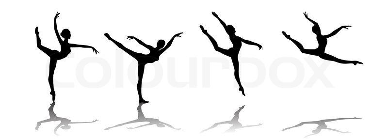 vector silhouette of a ballerina stock vector colourbox