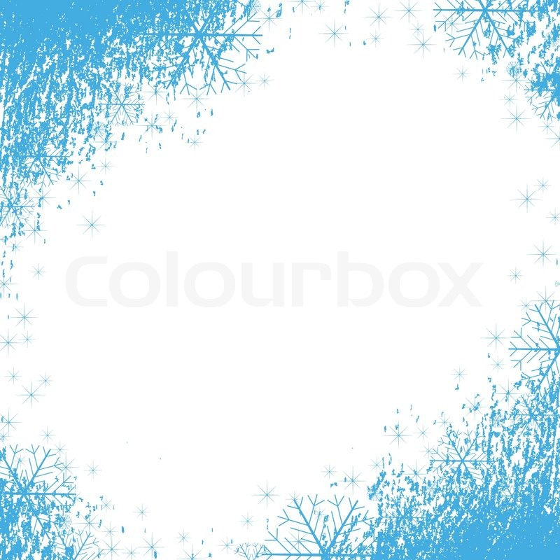Snowflake Corner Border Stock vector of 'a snowflakes