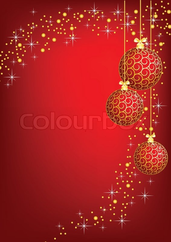 christmas new year shine card with golden balls stock. Black Bedroom Furniture Sets. Home Design Ideas