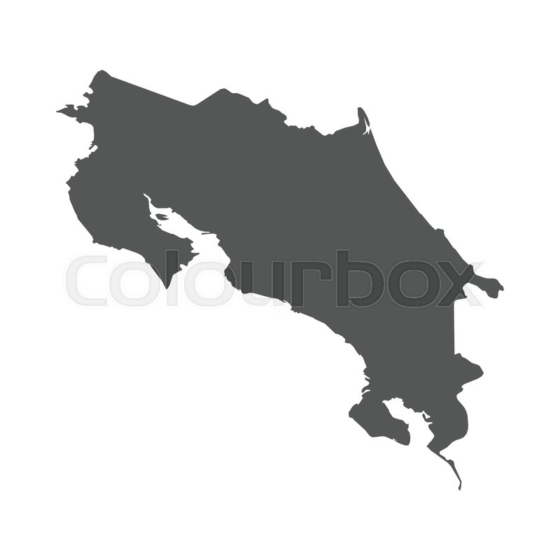 Costa rica vector map black icon on white background stock costa rica vector map black icon on white background stock vector colourbox gumiabroncs Image collections