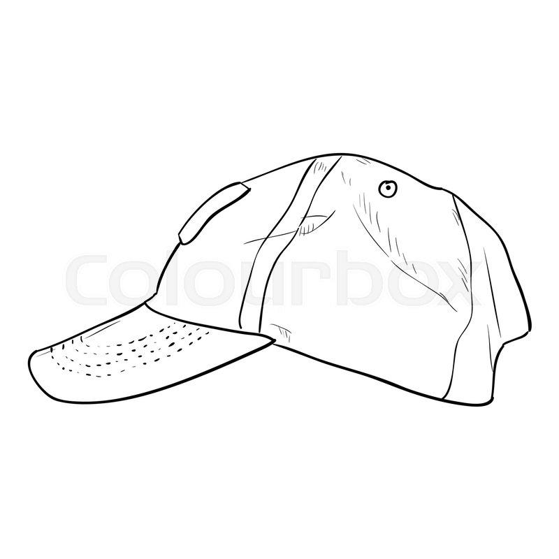 5ecff5da Vector sketch cap template. Hand draw ... | Stock vector | Colourbox
