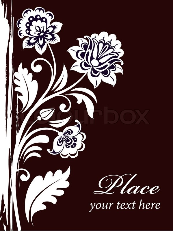 vector vintage floral background with decorative flowers