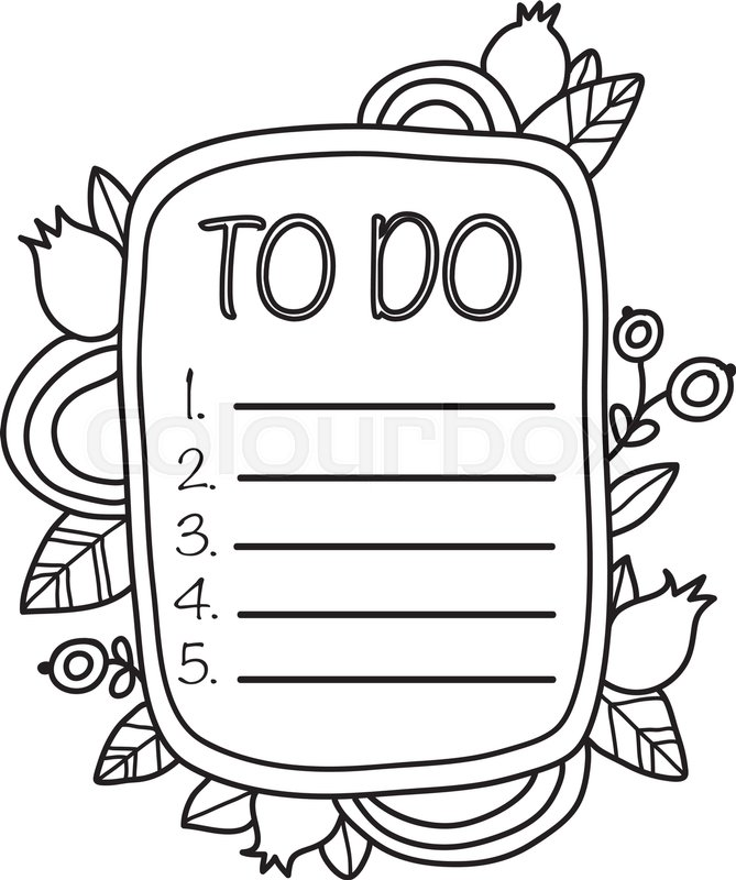 printable to do list page  fun summer doodle frame  floral