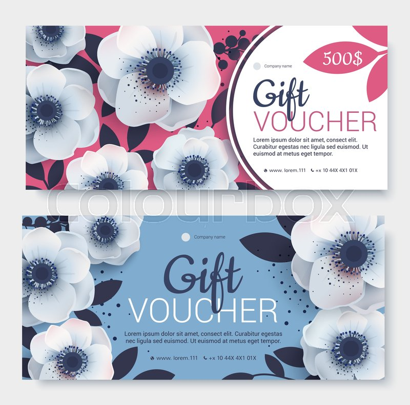 Gift Voucher Coupon Template Bright Stock Vector Colourbox