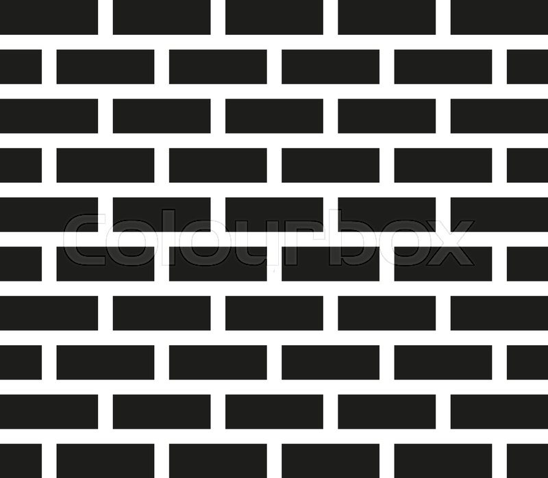 Brick Wall Icon Building And Stock Vector Colourbox