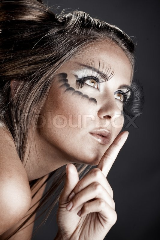 Fashion Model With Halloween Make Up Stock Photo Colourbox