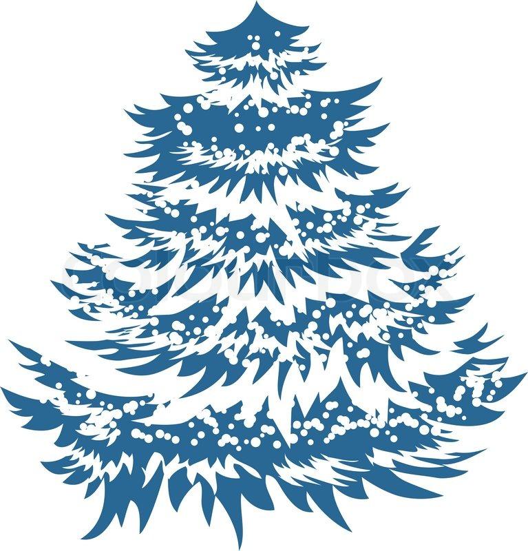 simple blue christmas tree isolated stock vector colourbox - Blue Christmas Tree