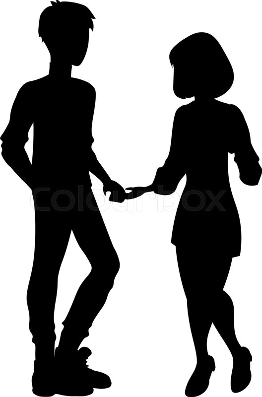 man and woman silhouette couple stock vector colourbox man and woman silhouette couple