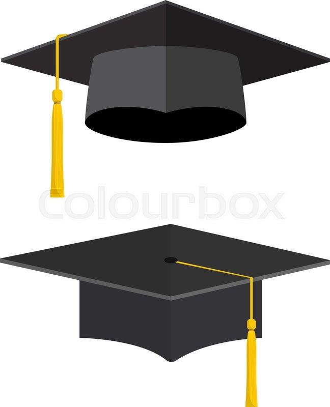 university academic graduation caps with tassel graduation hat for rh colourbox com graduation cap vector clipart graduation cap vector file