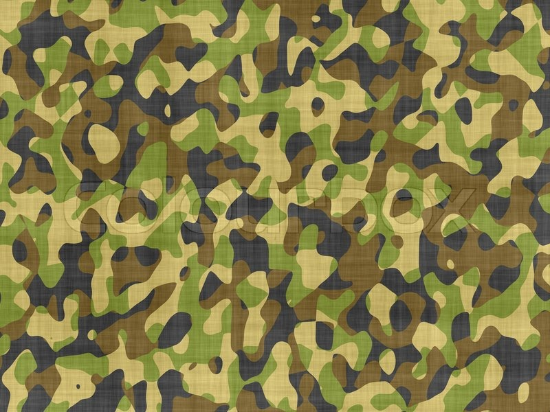 Abstract Generated Camouflage Fabric Stock Image