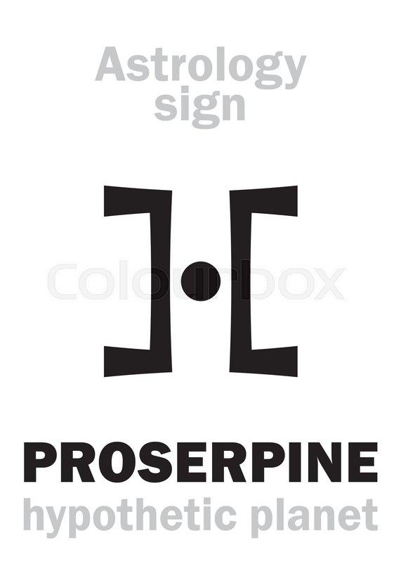 Astrology Alphabet Proserpine Hypothetical Planet Behind Pluto
