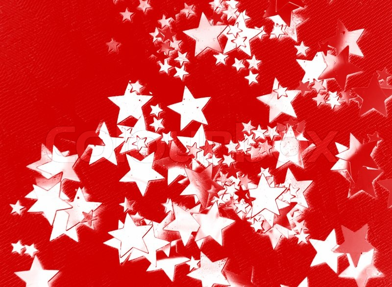 The red background with white stars | Stock Photo | Colourbox