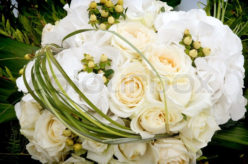 Hochzeitsdekoration Blumen Auf Der Stockfoto Colourbox
