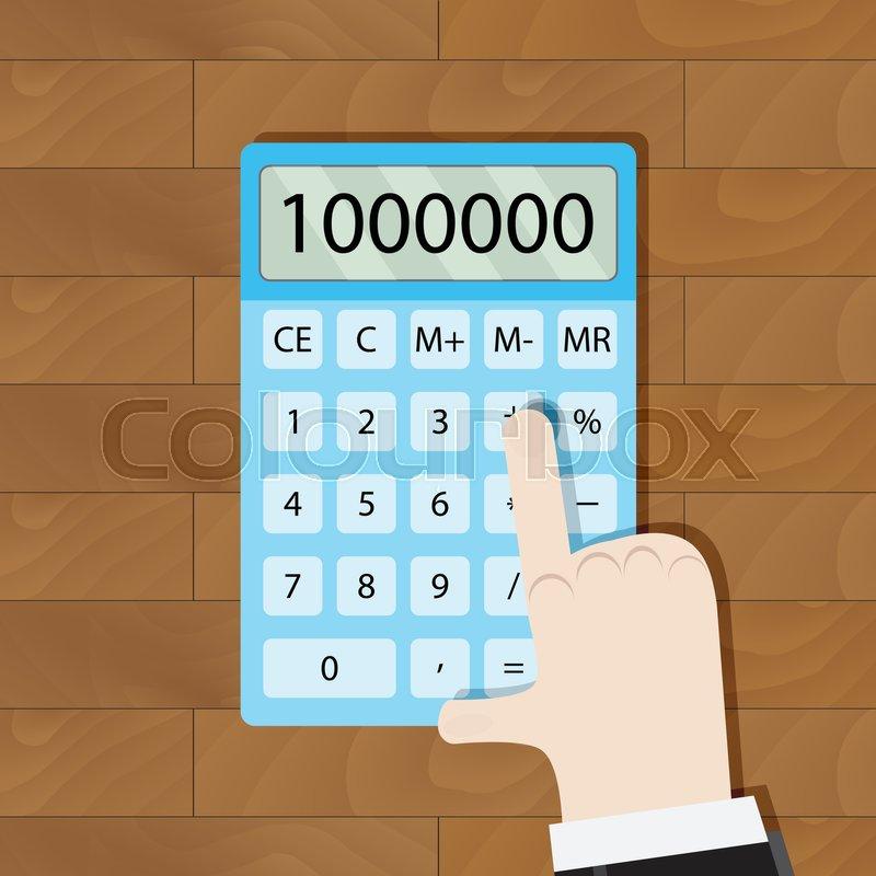 use calculator in workplace man hand calculator calculate money