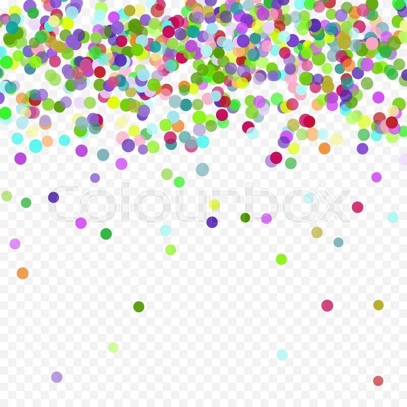 Multicolored paper confetti. Realistic holiday festive carnival wedding decorations background polka dots. Colored scattered small round confetti.  sc 1 st  Colourbox & Multicolored paper confetti. Realistic holiday festive carnival wedding decorations background polka dots. Colored scattered small round confetti. ...