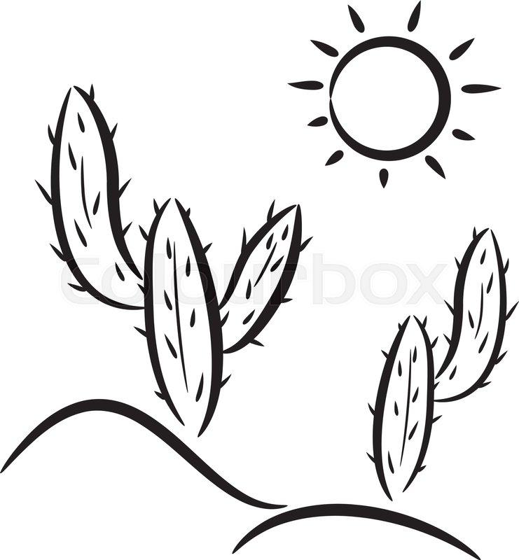 vector cactus in desert clip