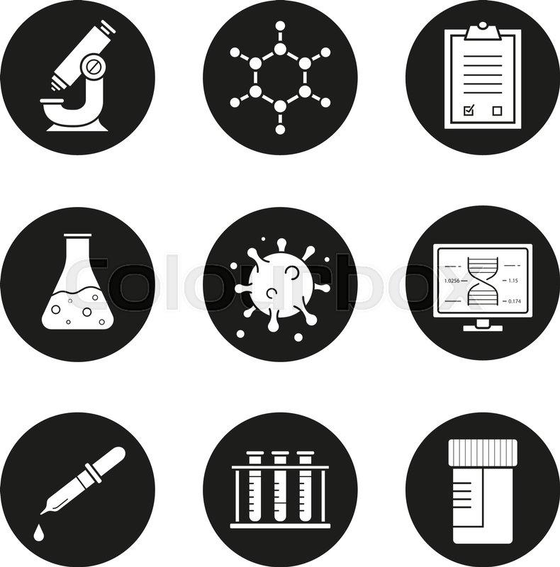 Science Laboratory Icons Set Stock Vector Colourbox