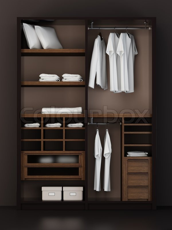Perfect Inside The Modern Closet 3d Rendering, Stock Photo