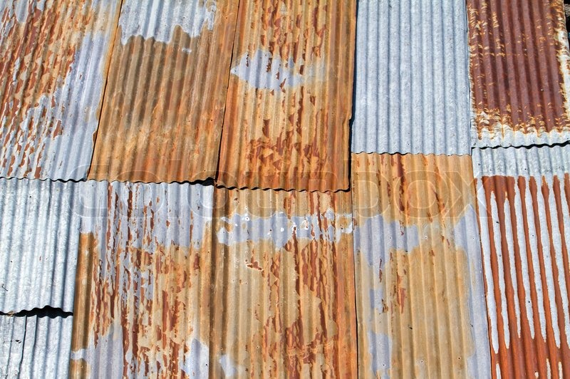 An Old And Corrugated Metal Roof Stock Photo Colourbox