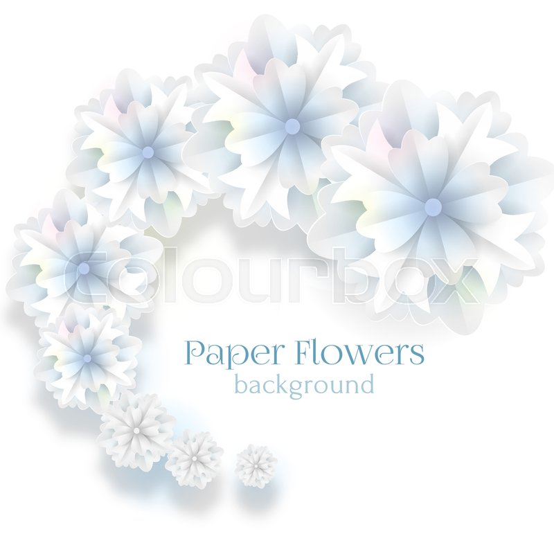 White paper flowers background abstract spiral paper blue and white white paper flowers background abstract spiral paper blue and white flowers snowflakes background for holiday leaflet invitation flyer mightylinksfo