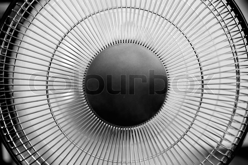 Detail of the home fan - black and white, stock photo
