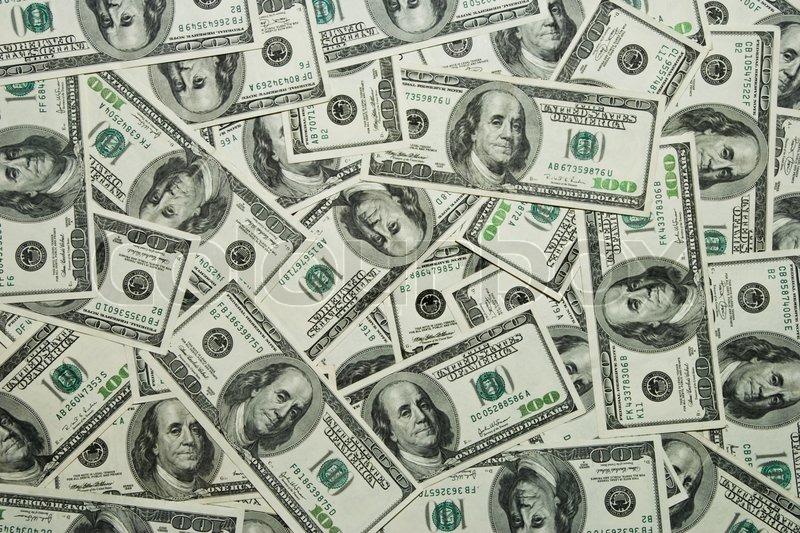 Money Background Hundred Dollars Greenback Stock Photo