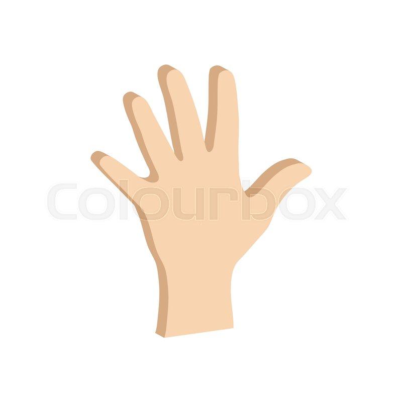 Hand Palm Symbol Flat Isometric Icon Or Logo 3d Style Pictogram
