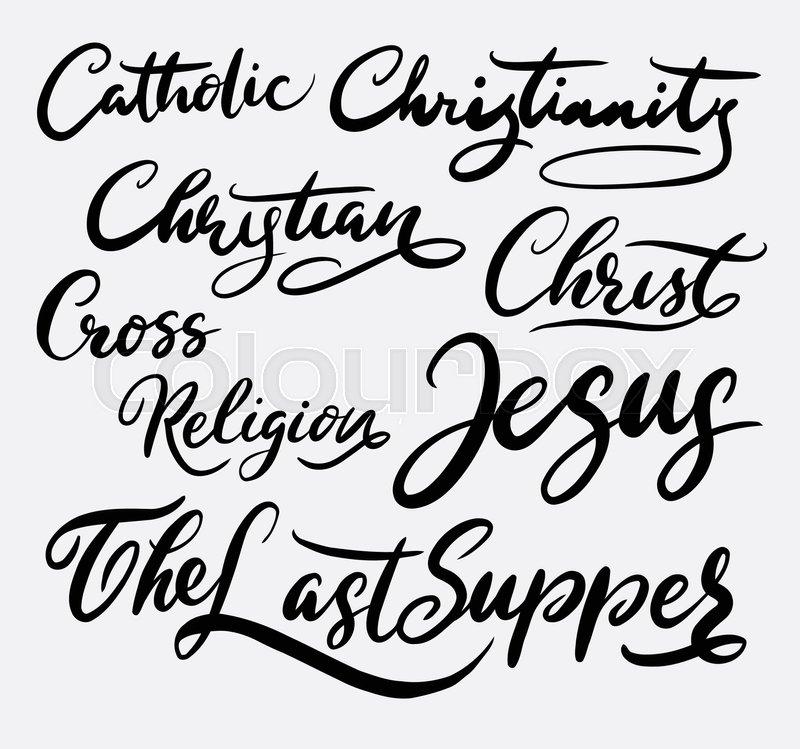 Jesus Christ Hand Written Typography Good Use For Logotype Symbol