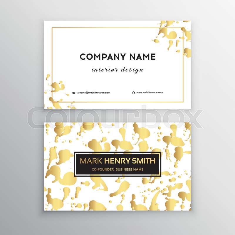 Vector golden business card. Greeting, invitation, business cards ...