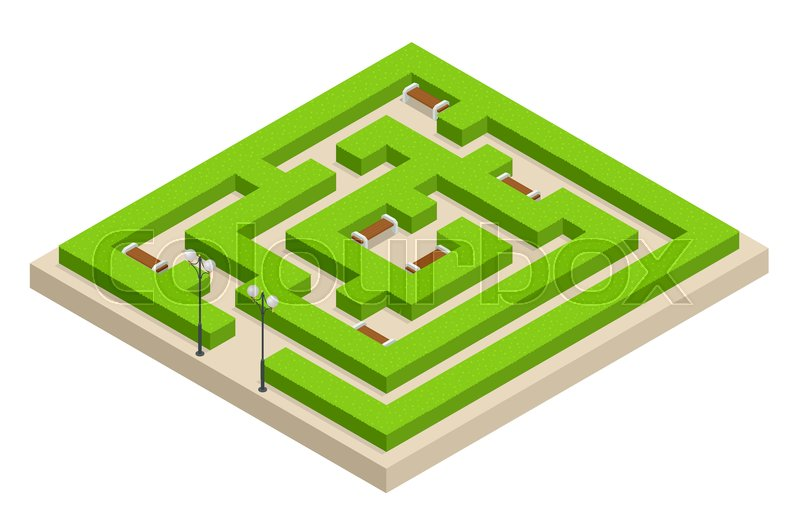 Isometric Green plant maze. City, park and outdoor plants ... on knockout rose garden designs, walking labyrinth designs, dog park designs, simple garden designs, stage garden designs, finger labyrinth designs, 6 path labyrinth designs, school garden designs, informal herb garden designs, greenhouse garden designs, labyrinth backyard designs, christian prayer labyrinth designs, meditation garden designs, spiral designs, rectangular prayer labyrinth designs, water garden designs, heart labyrinth designs, shade garden designs, new mexico garden designs, indoor labyrinth designs,