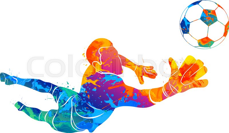 Abstract Design Of A Beach Volleyball Player Vector Image: Abstract Football Goalkeeper Is ...