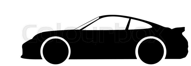 A Silhouette Of A Car Stock Vector Colourbox
