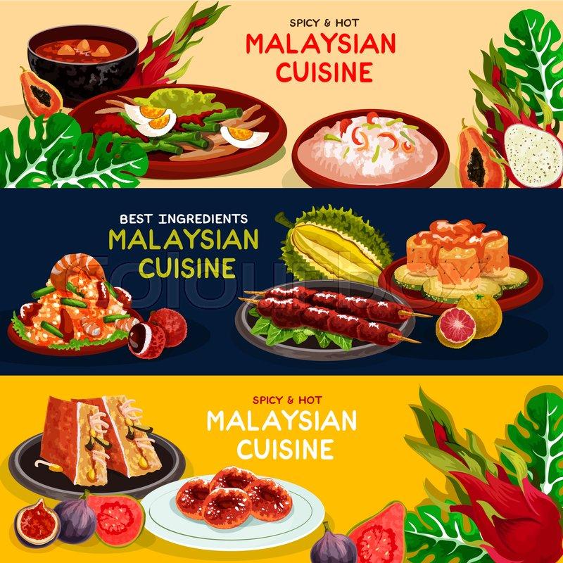 malaysian cuisine restaurant best offer banner set grilled chicken