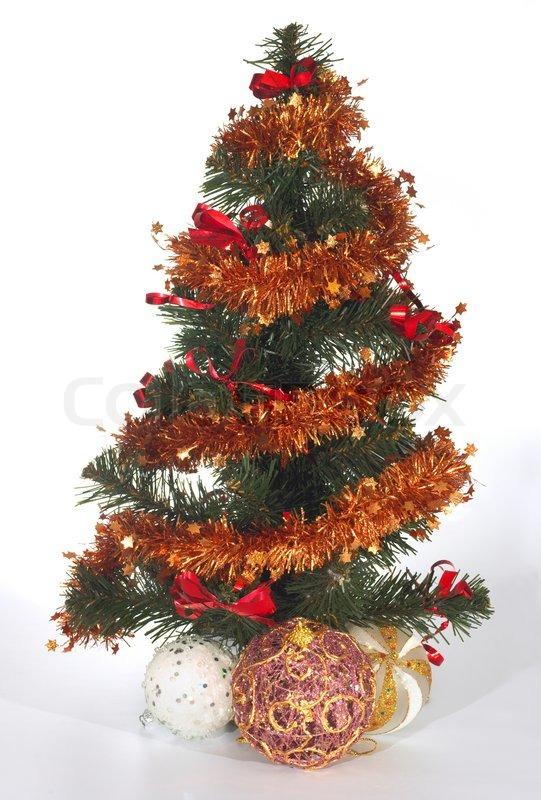 kleine k nstliche gr ne weihnachtsbaum und dekorative. Black Bedroom Furniture Sets. Home Design Ideas