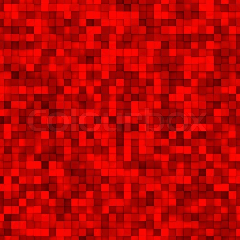 Red Mosaic Tiles Abstract Colorful Background Stock